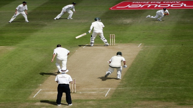 The moment England levelled the 2005 Ashes Series at Edgbaston, Birmingham. England won the series 2-1.