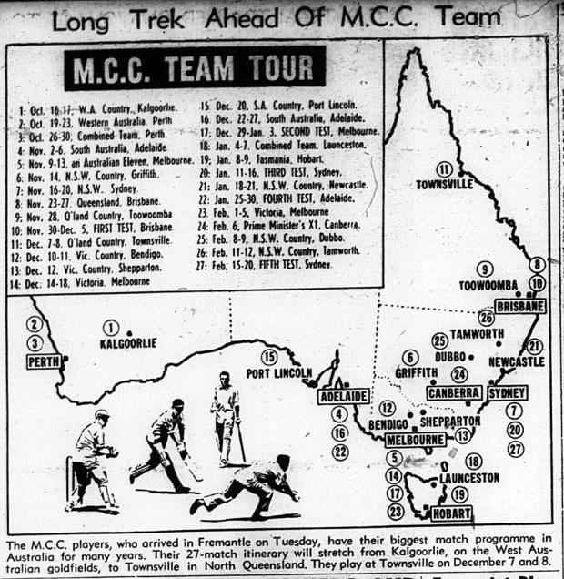 621013 - North Queensland Register - MCC tour of Australia cricket -p39